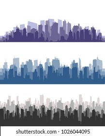 City Skyline.City building silhouette. Cityscape background vector.Set of vector city silhouette and elements for design.