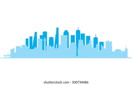 City Skylines silhouette background, vector illustration