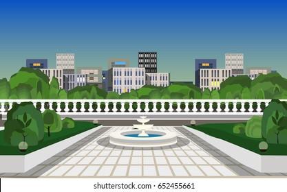 city square background