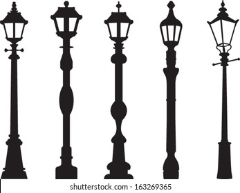 City street lantern set