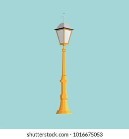 City street light, lights, lighting, lamp, lantern, lamppost, lamps electric, night, stand vector illustration flat style stylish object symbol icon