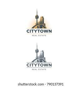 City town landscape building