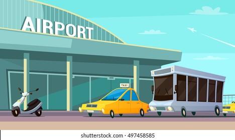 Cartoon Airport Images Stock Photos Vectors Shutterstock