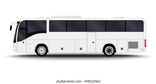 city transport. intercity Bus side view