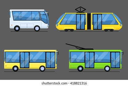 City transport, tram, bus, trolleybus