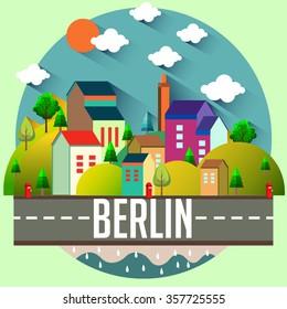 City vector illustration - BERLIN