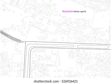 city view, architecture drawing, map abstract, illustration vector