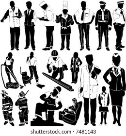 city workers vector