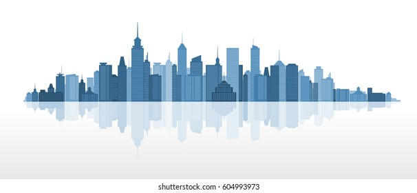 Cityscape - combination of modern architectural forms and high-rise buildings.