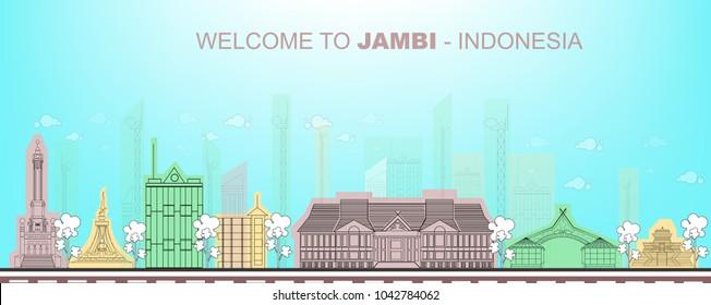 Cityscape of Jambi City . Indoensia
