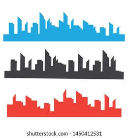 Cityscape modern architectural forms. Cityscapes silhouettes vector