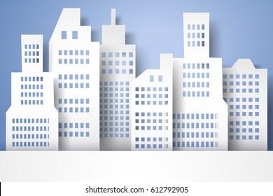 Cityscape, paper art style