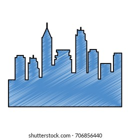 cityscape silhouette isolated icon