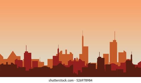 Cityscape silhouette  vector illustration