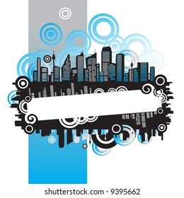 Cityscape, urban frame, with place for your text
