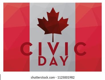Civic Day Holiday Canada logo concept, vector eps 10.