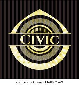 Civic golden emblem