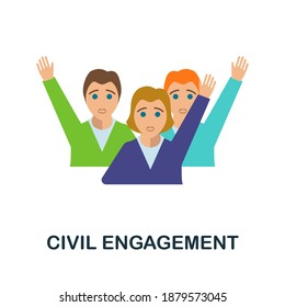 Civil Engagement flat icon. Color simple element from activism collection. Creative Civil Engagement icon for web design, templates, infographics and more