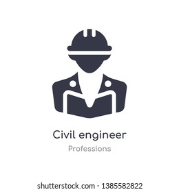 civil engineer icon. isolated civil engineer icon vector illustration from professions collection. editable sing symbol can be use for web site and mobile app