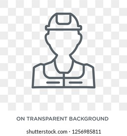 Civil Engineer icon. Trendy flat vector Civil Engineer icon on transparent background from Professions collection. High quality filled Civil Engineer symbol use for web and mobile