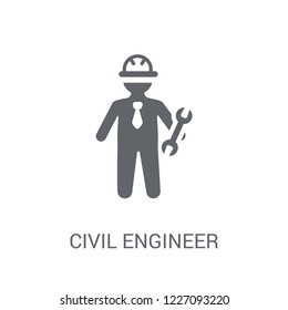 Civil Engineer icon. Trendy Civil Engineer logo concept on white background from Professions collection. Suitable for use on web apps, mobile apps and print media.
