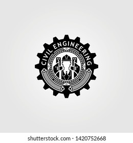 Civil Engineering Vector Logo Template