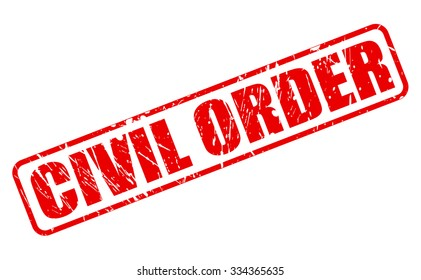CIVIL ORDER red stamp text on white