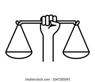 civil rights icon, vector illustration