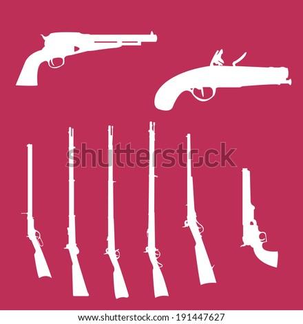 Civil War Weapons Stock Vector (Royalty Free) 191447627 - Shutterstock