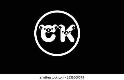 CK abstract vector logo monogram template