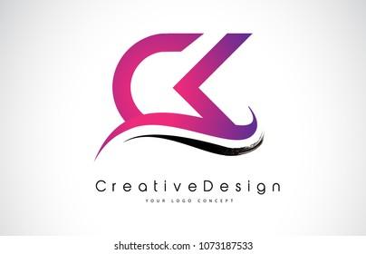 CK C K Letter Logo Design in Black Colors. Creative Modern Letters Vector Icon Logo Illustration.