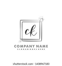 CK Initial beauty monogram logo vector