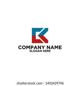CK initial company logo vector
