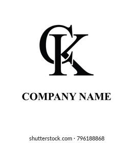 ck initial logo design