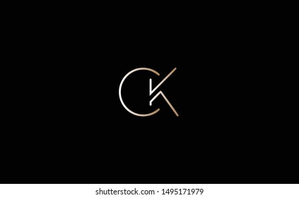 CK Letter Logo Design with Creative Modern Trendy Typography