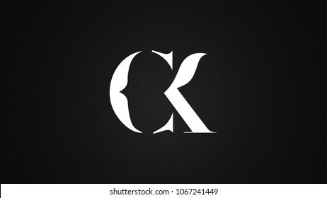 CK Letter Logo Design Template Vector