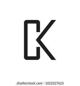 CK letter logo design vector