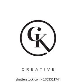 ck logo design vector icon symbol
