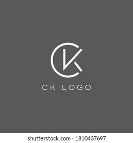 CK logo design. Vector illustration.