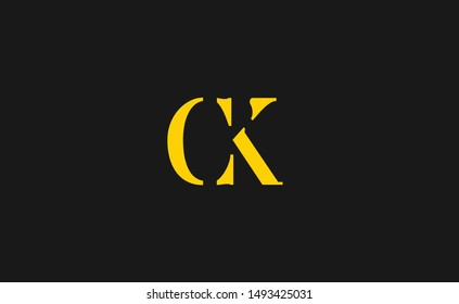 CK logo design vector template