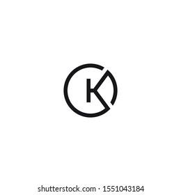 CK logo initial letter design vector