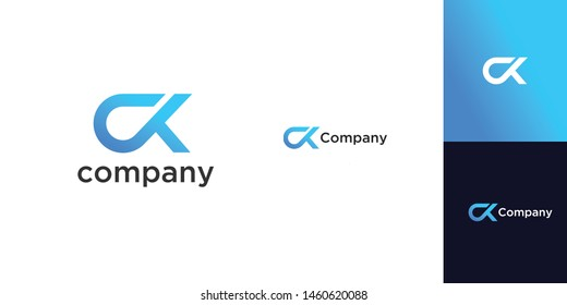 CK logo template, vector file .eps 10, text and color is easy to edit