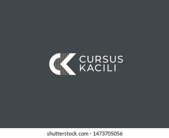 CK. Monogram of Two letters C&K. Luxury, simple, minimal and elegant CK logo design. Vector illustration template.