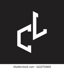CL Initial Letters logo monogram with up to down style