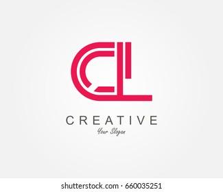 CL Letter Logo Design Template Element