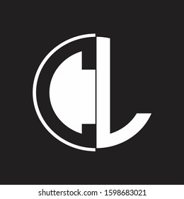 CL Logo monogram with Negative space style design tempate