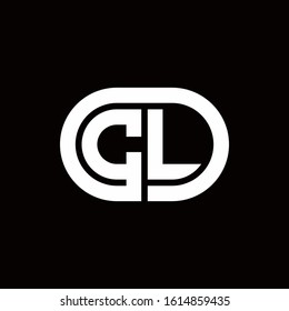 CL monogram logo with an oval style on a black background