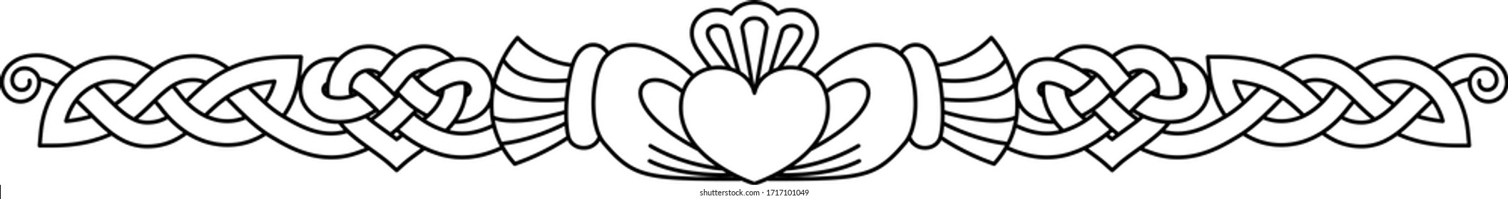 Claddagh with Knotted Heart Border