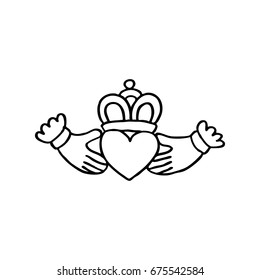 Claddagh ring doodle icon