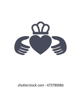claddagh ring icon. vector illustration